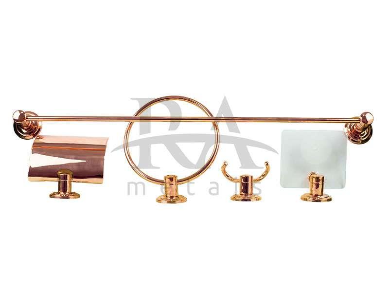 Kit acessórios para banheiro em liga de cobre