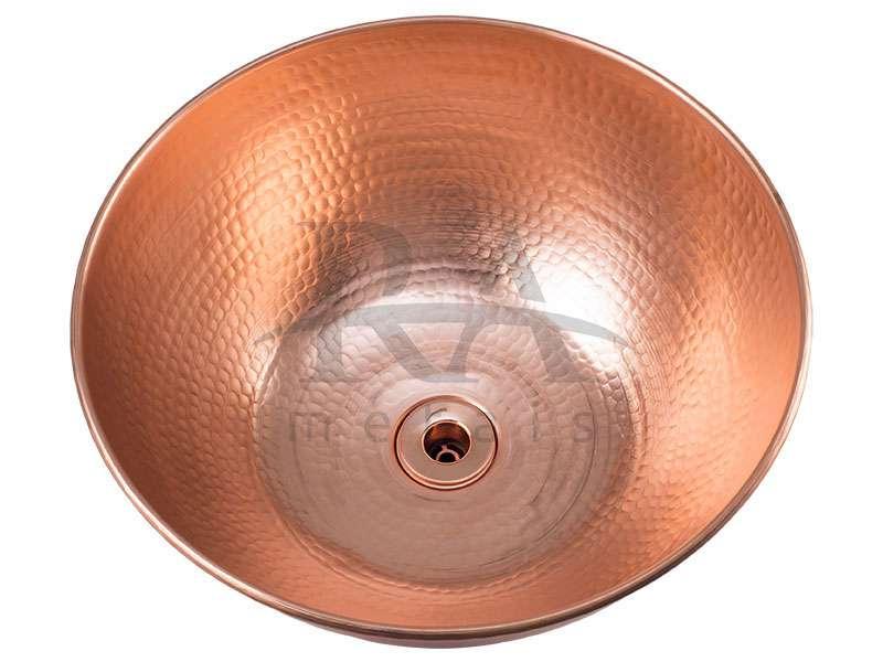 Cuba de apoio em cobre puro 8 lts sem alças