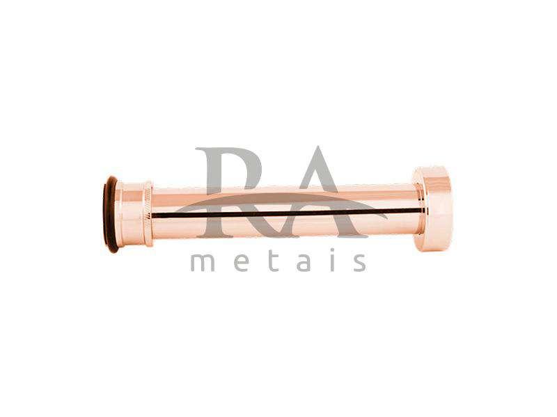 Tubo de ligação ajustável em liga de cobre