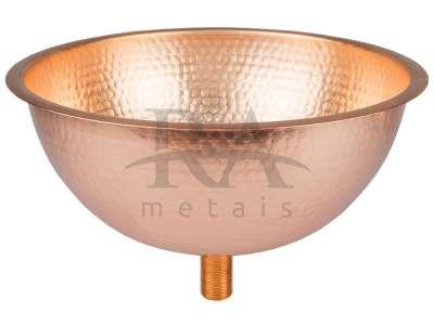 Cuba de embutir em cobre puro 15 lts
