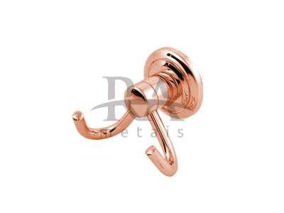 Cabide duplo em liga de cobre