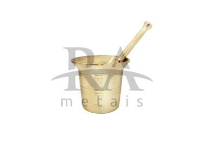 Almofariz / Socador de Alho em Liga de Bronze.