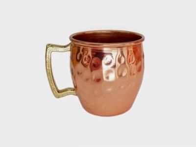 Canequinha de cobre puro 60 ml martelada