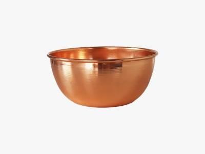 Cachepot/ Vaso/ Floreira em cobre puro, laqueado .