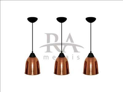 Luminária em cobre puro