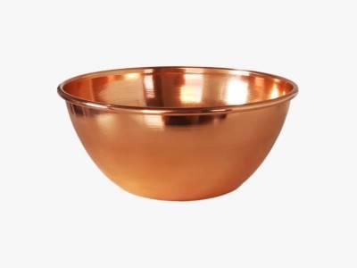 Cachepot em cobre puro , laqueado