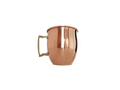 Caneca Moscow Mule em cobre puro 500 ml Impermeabilizada.